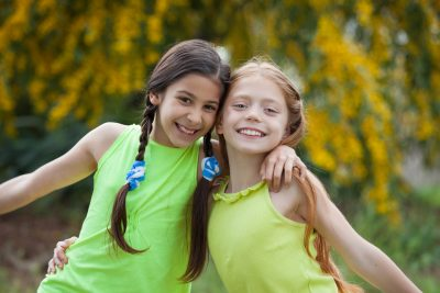 diverse happy smiling, kids at summer camp