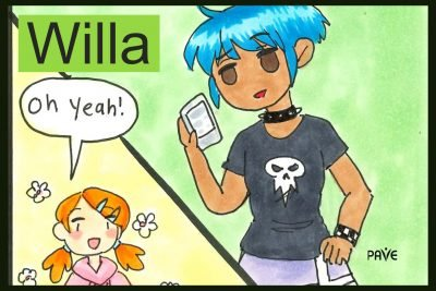 Willa is a female youth character with anxiety disorder