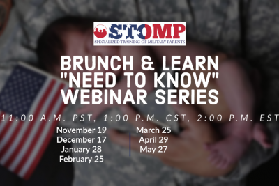 """Brunch and Learn """"Need to Know"""" Webinar Series for Military Families"""